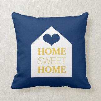 Travesseiro azul & amarelo HOME DOCE HOME