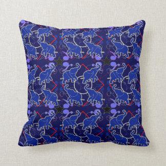 Travesseiro azul do Bandana do elefante Almofada