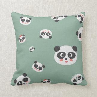Travesseiro bonito ou coxim das caras da panda almofada