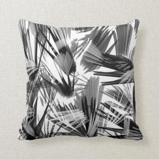 Travesseiro branco preto abstrato