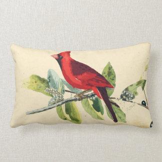 Travesseiro cardinal da decoração do pássaro almofada lombar