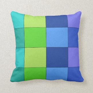 Travesseiro Checkered verde e azul e roxo Almofada