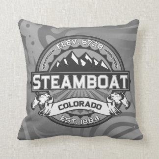 Travesseiro cinzento do barco a vapor almofada