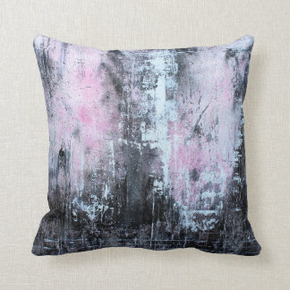 Travesseiro cor-de-rosa, branco, preto.  Art. abst