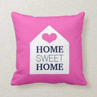 Travesseiro cor-de-rosa e azul HOME DOCE HOME Almofada