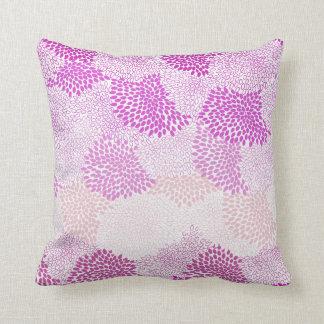 """Travesseiro cor-de-rosa estourado """"flor"""""""