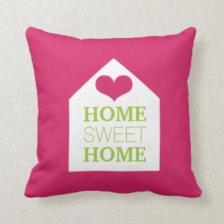 Travesseiro cor-de-rosa & verde HOME DOCE HOME Almofada
