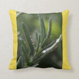 Travesseiro da planta verde almofada