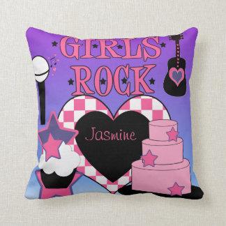 Travesseiro da rocha das meninas almofada