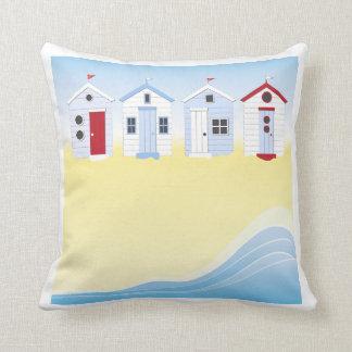 Travesseiro das cabanas da praia almofada