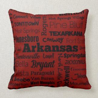Travesseiro das cidades de Arkansas no Almofada