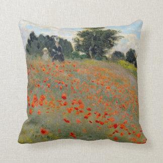 Travesseiro das papoilas de Monet Almofada
