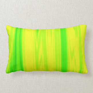 Travesseiro decorativo amarelo verde de néon da almofada lombar