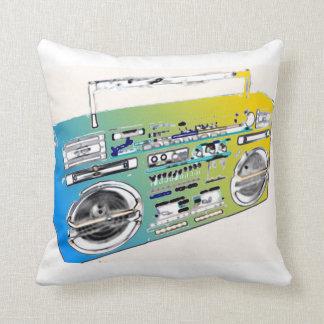 Travesseiro decorativo artística retro de Boombox Almofada