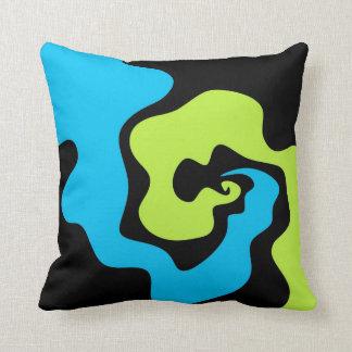 Travesseiro decorativo azul e verde almofada
