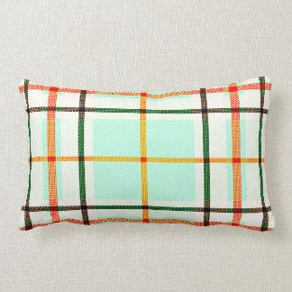travesseiro decorativo branco alaranjado do verde almofada lombar