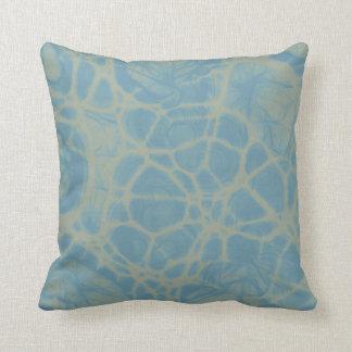 travesseiro decorativo branco do abstrato do azul almofada