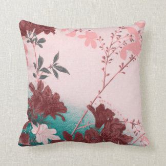Travesseiro decorativo cor-de-rosa da flor do aqua almofada