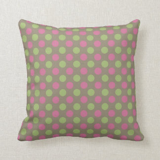 Travesseiro decorativo cor-de-rosa e verde das almofada