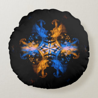 Travesseiro decorativo da arte do fogo dos dragões almofada redonda