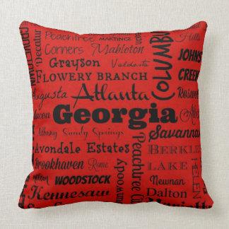 Travesseiro decorativo da tipografia das cidades almofada