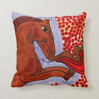 Travesseiro decorativo de respiração do cavalo do almofada
