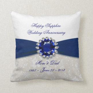Travesseiro decorativo do aniversário de casamento almofada