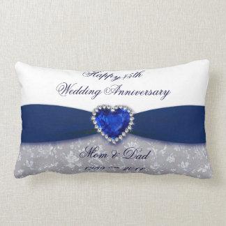 Travesseiro decorativo do aniversário de casamento almofada lombar