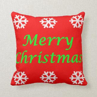Travesseiro decorativo do Feliz Natal Almofada