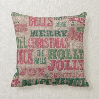 Travesseiro decorativo do inverno do Feliz Natal Almofada