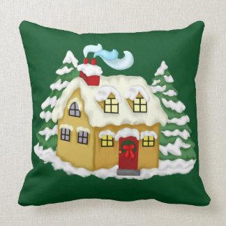 Travesseiro decorativo do verde da casa de campo almofada