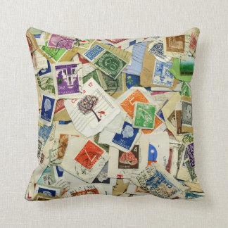 Travesseiro decorativo do viagem da colagem do almofada