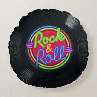 Travesseiro decorativo do vinil do vintage do rock almofada redonda