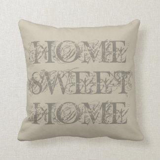 Travesseiro decorativo home doce da casa bege almofada
