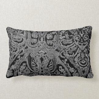 Travesseiro decorativo lombar preto & branco de Pa