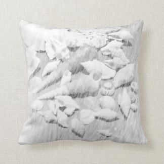 Travesseiro decorativo preto & branco dos Seashell