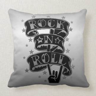 Travesseiro decorativo preto & de prata do almofada