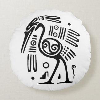 Travesseiro decorativo redondo do algodão com almofada redonda