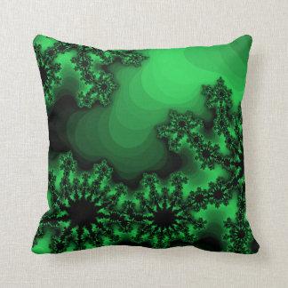 Travesseiro decorativo retro abstrato verde almofada