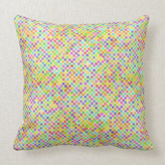 Travesseiro decorativo retro do algodão dos pontos almofada