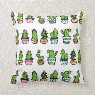 Travesseiro decorativo verde & branco do almofada