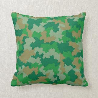 Travesseiro decorativo verde da camuflagem almofada