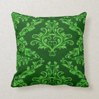 travesseiro decorativo verde do teste padrão almofada