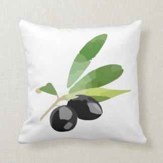 Travesseiro decorativo verde-oliva da decoração almofada