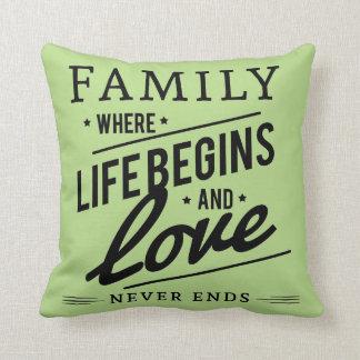 Travesseiro decorativo verde pálido do amor da almofada