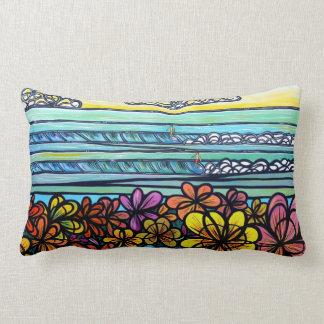 Travesseiro do algodão do surf de flower power