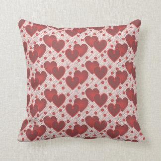 Travesseiro do amor dos corações do dia dos almofada