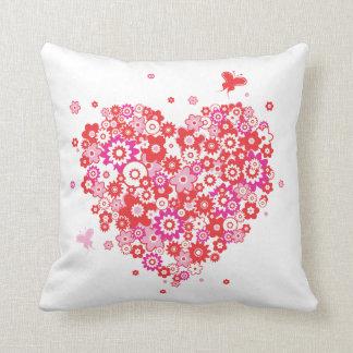 Travesseiro do coração 1 da flor
