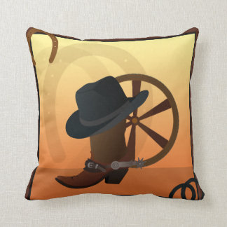 Travesseiro do design da bota de vaqueiro almofada