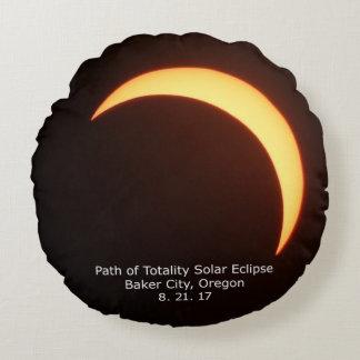 Travesseiro do eclipse solar almofada redonda